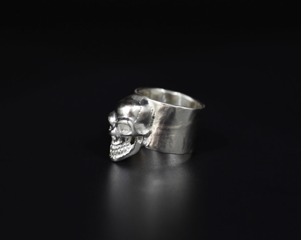 Skull  Pinky Ring - Sterling Silver
