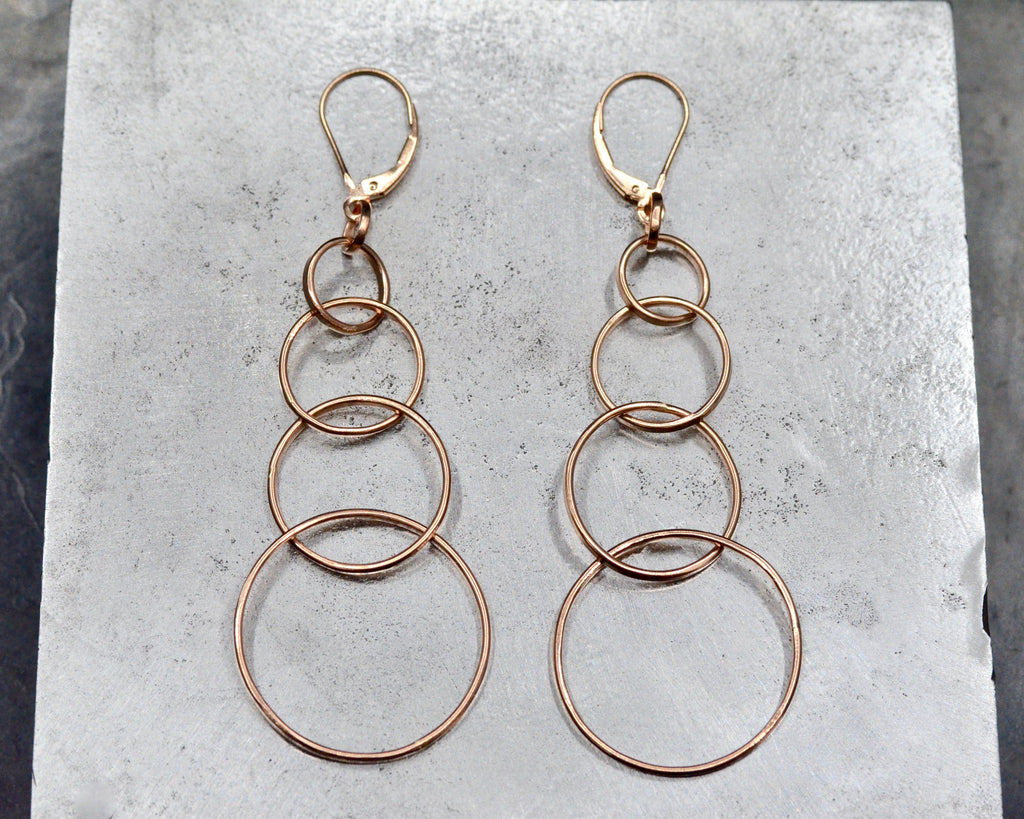 KOSARA EARRINGS - ROSE GOLD
