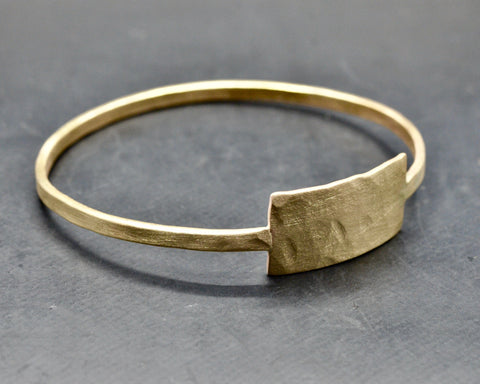 Zeus Bangle With Tag- Bronze - Men's