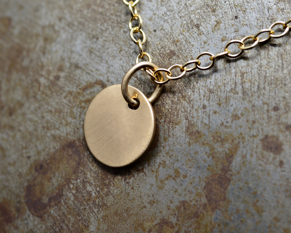 DISC TALISMAN YELLOW GOLD