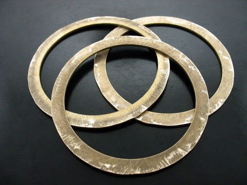 DISTRESSED FLAT BANGLES (SET OF THREE)