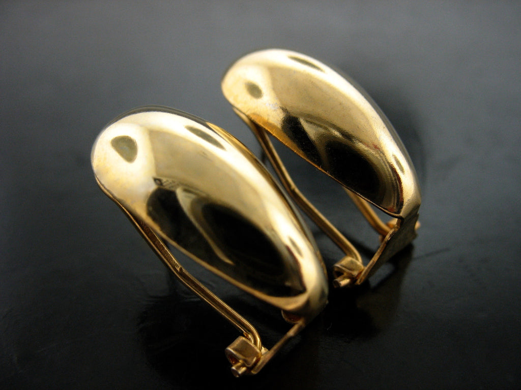 Domed Yellow Gold Vermeil Clip On Earrings