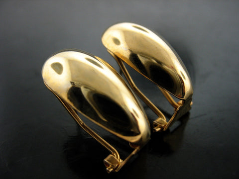 Domed Yellow Gold Vermeil Clip Ons