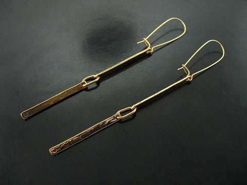 Double Link Number 70 Earrings- Yellow Gold Vermeil