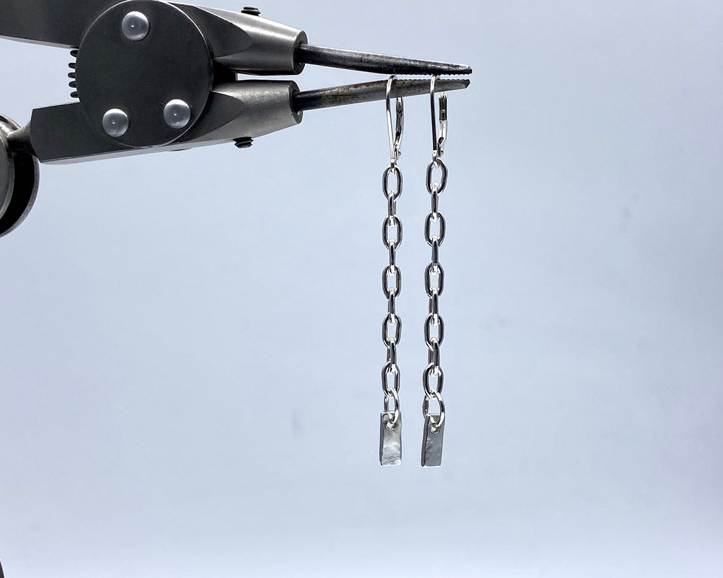 Forged Tag Earrings
