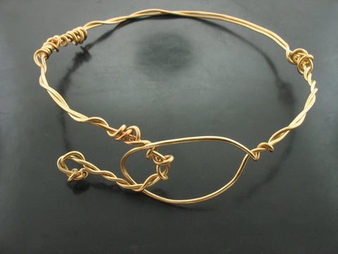 Free Form Choker With Clasp- Bronze