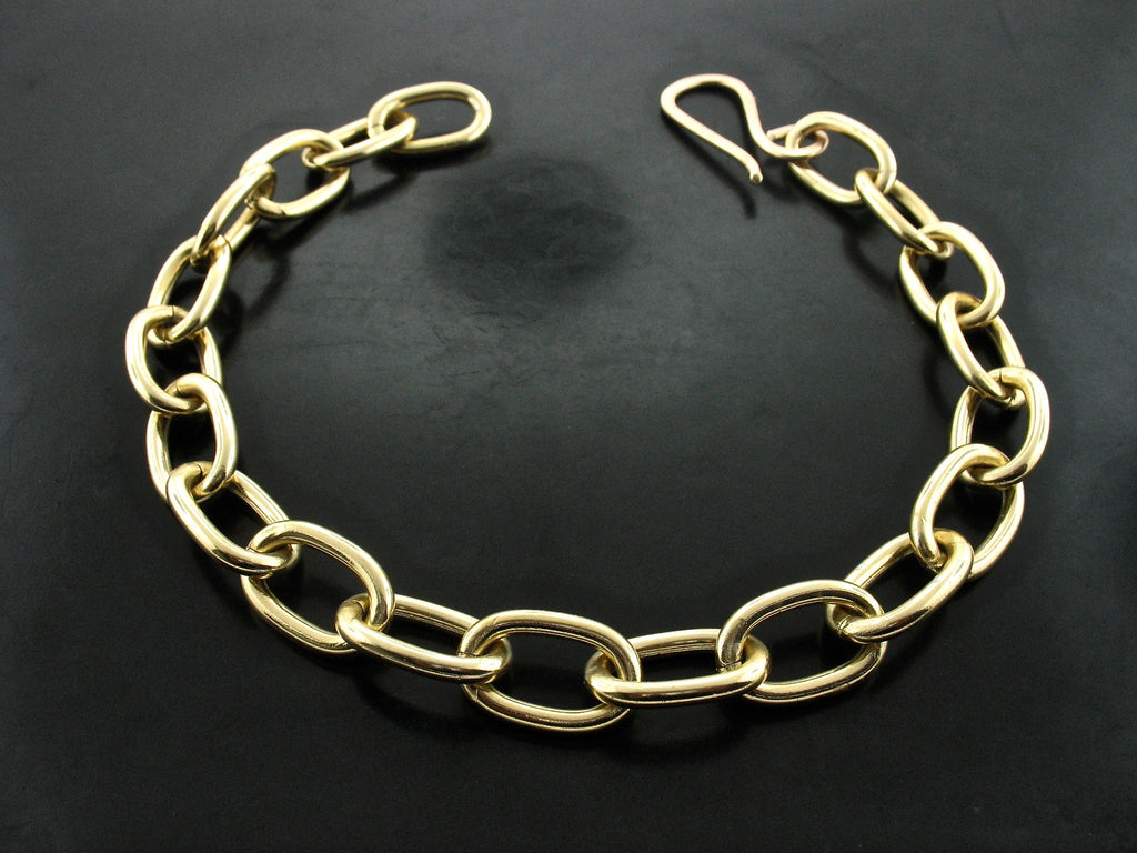 GOLD DIPPED ZEUS LINK NECKLACE WITH S CLASP