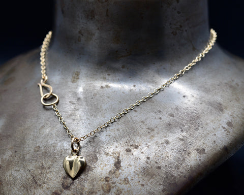Heart Necklace- Yellow Gold