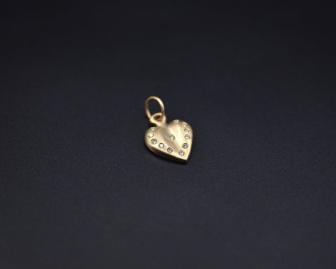 Heart with Diamonds Charm