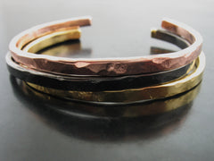Baltic Hammered Cuff - Yellow Gold