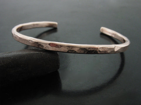 hammered cuff #2 - rose gold