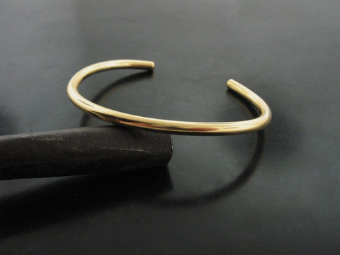 number 80 cuff - yellow gold