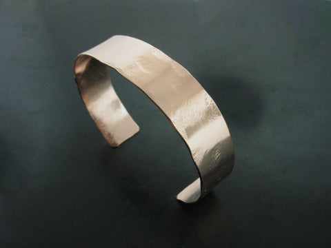 ss18 hammered cuff #3 - rose gold