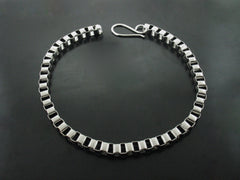 Cube Necklace - White Gold