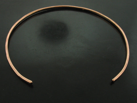 Baltic Hammered Choker - Rose Gold with Black Crystal