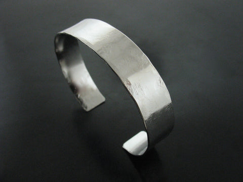 ss18 Hammered Cuff #3 - White Gold