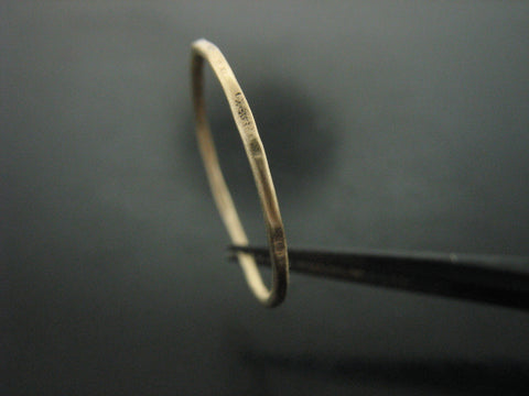 Hammered Stackable Rings - 18K Yellow Gold