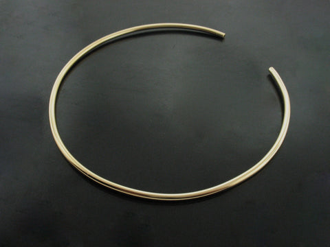 number 80 choker - yellow gold