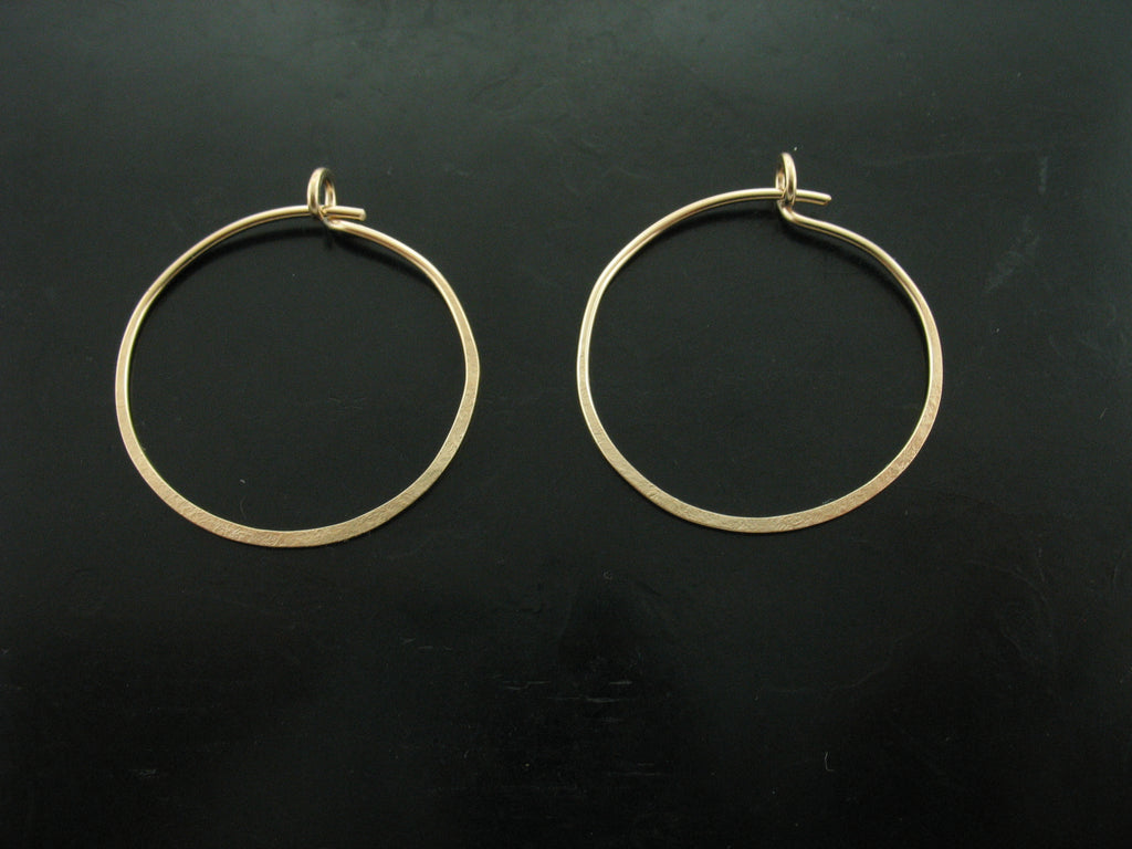 Pegasus Hoop Earrings - Yellow Gold