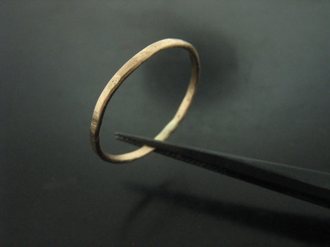 Hammered Stackable Rings - Yellow Gold