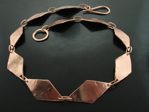 Baltic Dalia Link Necklace - Rose Gold