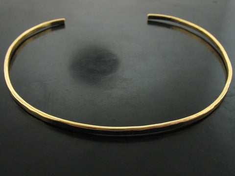 Baltic Hammered Choker - Yellow Gold