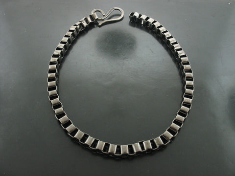 Baltic Cube Link Necklace - Black Gold