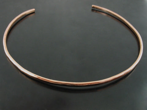 Baltic Hammered Choker - Rose Gold