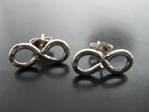 Infinity Studs - Sterling Silver