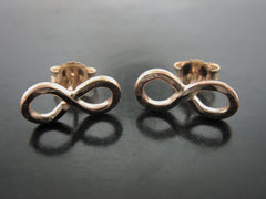 Infinity Studs - Yellow Gold
