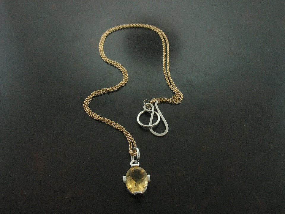 Necklaces: Citrine Charm Necklace