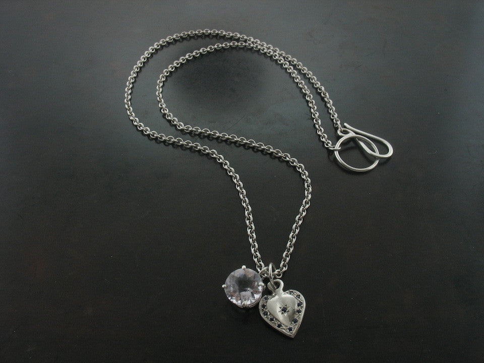 Necklaces: Heart and Amethyst Necklace