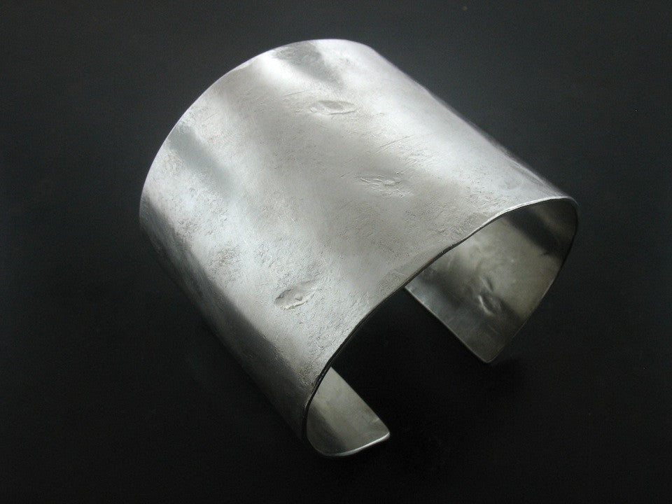 Cuffs: Wide Hammered Cuff