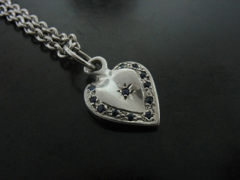 Pins and Charms: Heart Charm, White Gold