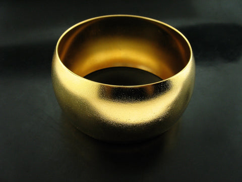 YELLOW GOLD VERMEIL WIDE BANGLE