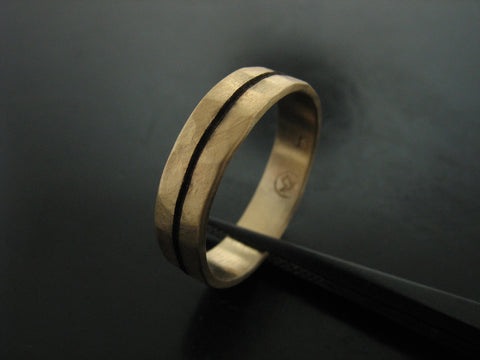 BRANDON'S RING YELLOW GOLD 6MM WIDE
