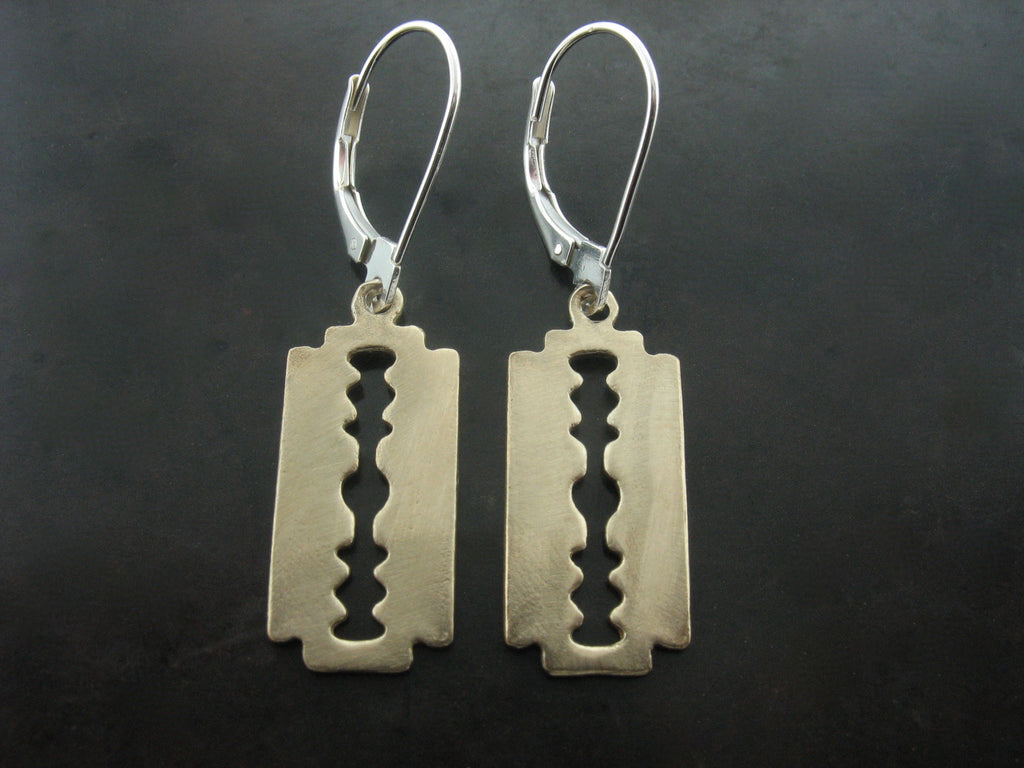 Razor Earrings - Bronze
