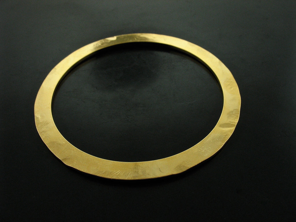 YELLOW GOLD VERMEIL FLAT BANGLE