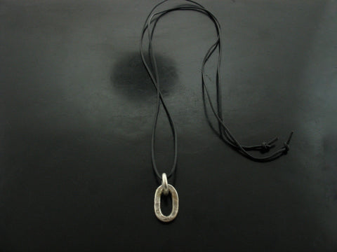 Jolie Link on Leather Cord Necklace