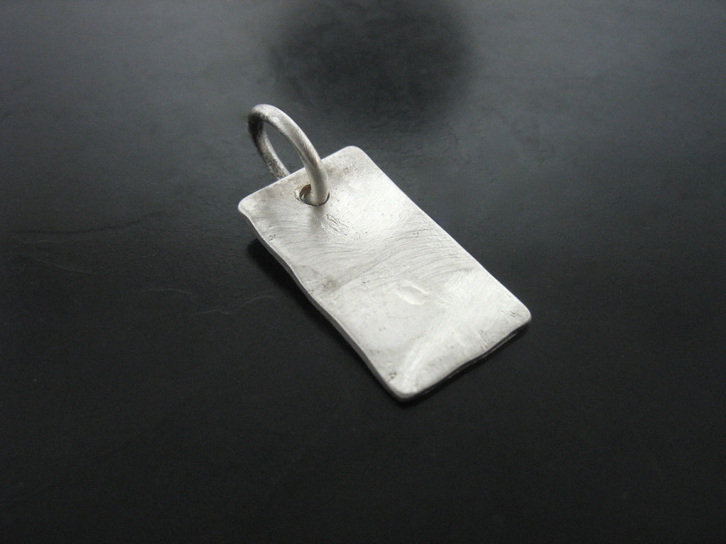 Hammered Tag Charm