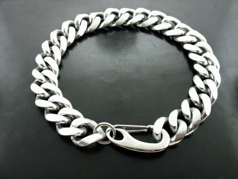 Large Curb with Chrome Clasp Necklace