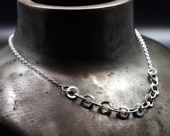 Monk Link on Baby Chain- Sterling Silver