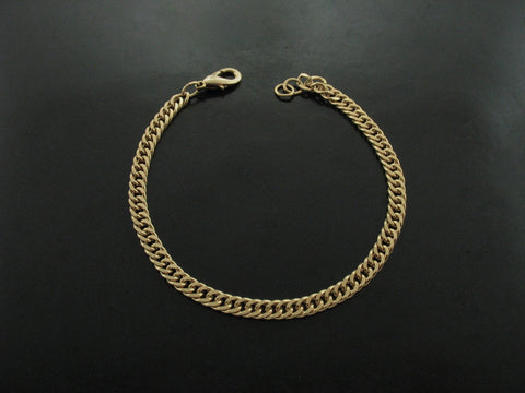 Old School Men's Curb Link Bracelet - Yellow Gold