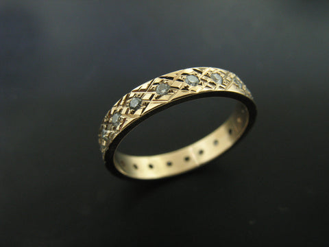 SARAH'S RING YELLOW GOLD 3MM WIDE