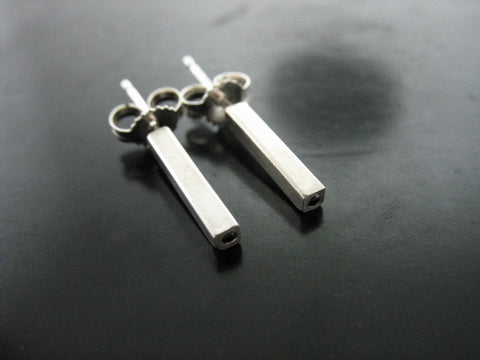 Square Bolt Stud Earrings
