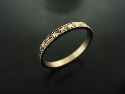 UNA'S RING YELLOW GOLD 2MM WIDE
