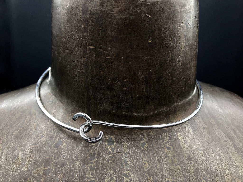 Number 80 Choker with Clasp - White Gold