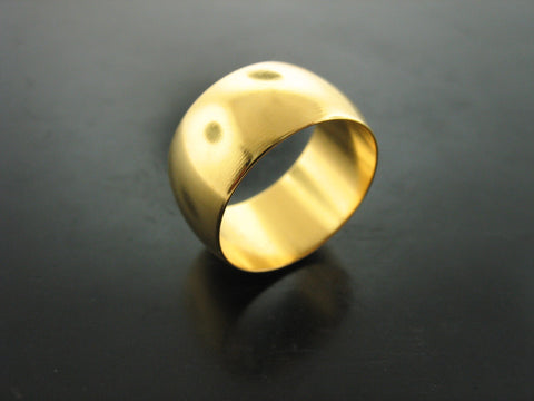 24KT Yellow Gold Vermeil Wide Danube Ring