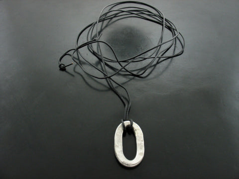 XL Jolie Link on Leather Cord Necklace