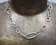Jiahui's Necklace- Rose Gold & Sterling Silver